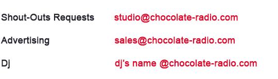 Email Address for Chocolate radio