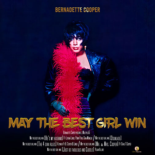 CD Cover new Bernadette Cooper Single May The Best Girl Win out June 2021